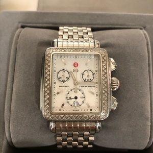 Michele Signature Deco Diamond Watch